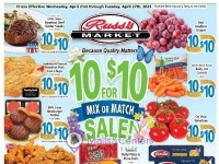 Russ's Market (Weekly Specials) Flyer