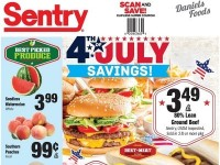 Sentry Foods (Happy 4th of july) Flyer