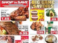 SHOP 'n SAVE (Big game Savings - NY) Flyer