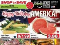 SHOP 'n SAVE (Happy Birthday America - OH) Flyer