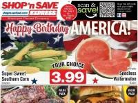 SHOP 'n SAVE (Happy Birthday America - WV) Flyer