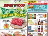 Super Food (Dollar Days) Flyer