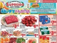Supremo Food Market (Happy Easter) Flyer