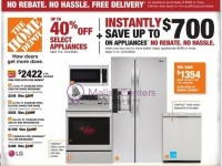 The Home Depot (No Rebate No Hassle Free Delivery) Flyer