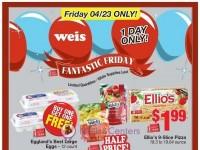 Weis Markets (Fantastic Friday) Flyer