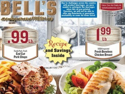 Bell's Food Stores (Spectacular Savings) Flyer