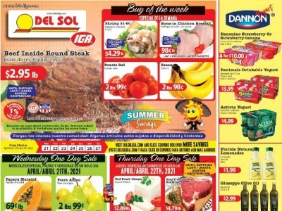 Del Sol IGA (Hot Deals) Flyer