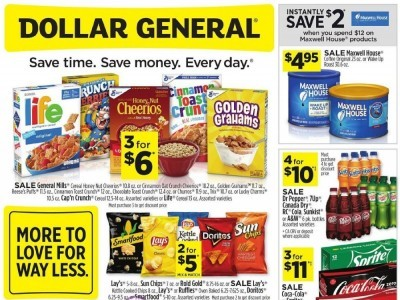 Dollar General (More To Love For Way Less - CA) Flyer