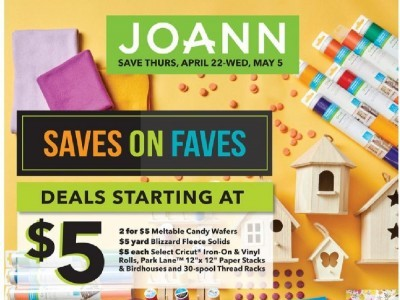 Jo Ann Fabrics and Crafts (Saves On Faves) Flyer