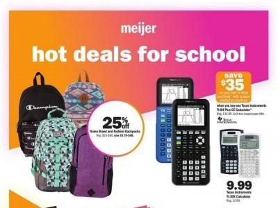 Meijer (hot deals for school) Flyer