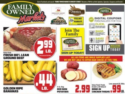 Oregon Dairy Supermarket (Special Offer) Flyer