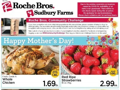 Roche Bros. Supermarkets (Savings offer) Flyer