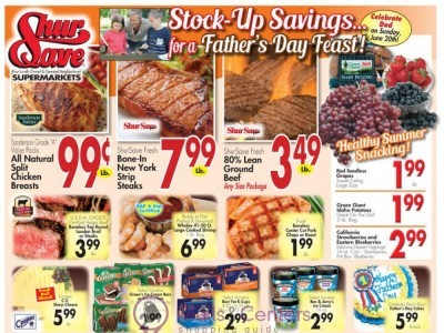ShurSave Markets (Stock Up Savings For A Father's Day Feast) Flyer