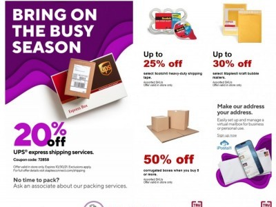 Staples (Bring On The Busy Season) Flyer