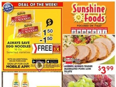 Sunshine Foods (Weekly Specials) Flyer