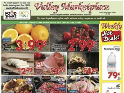 Valley Marketplace (Weekly Specials) Flyer
