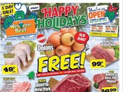 Western Beef (Happy Holidays) Flyer
