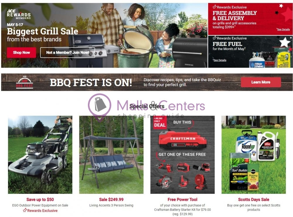 weekly ads Ace Hardware - page 1 - mallscenters.com