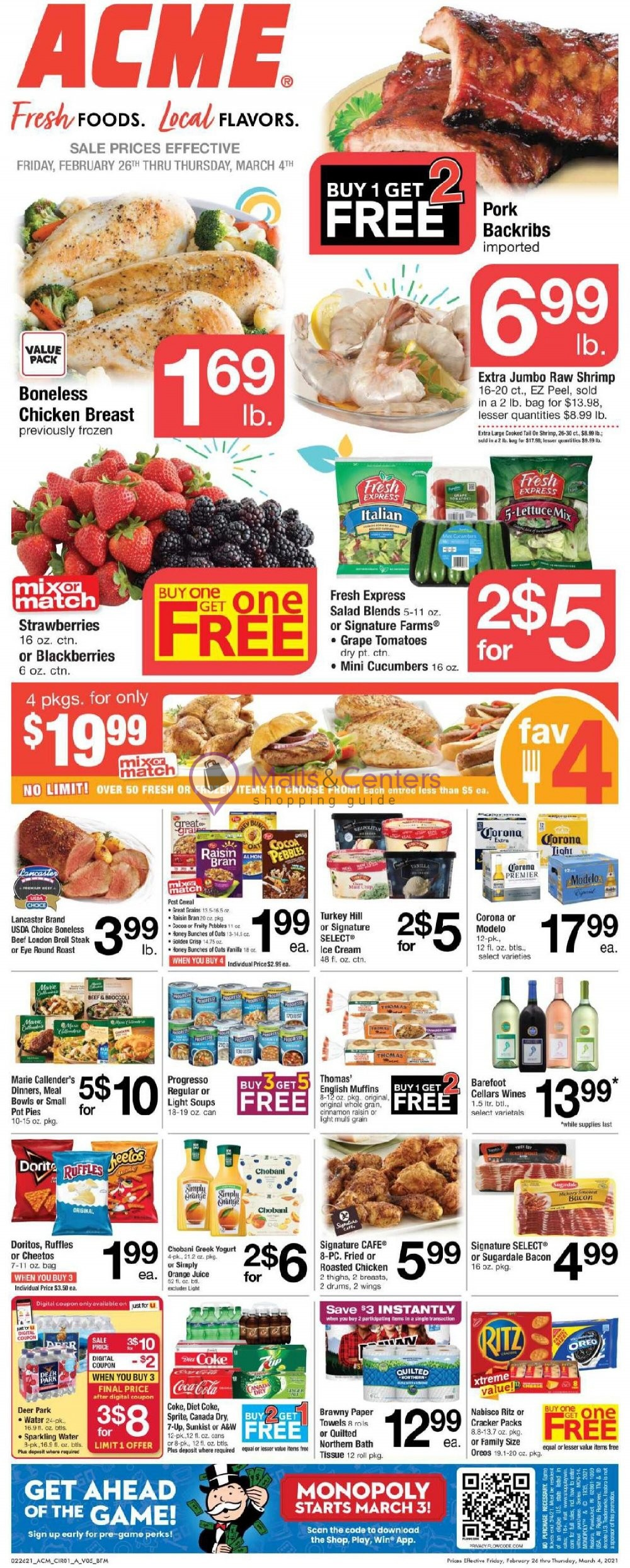 weekly ads Acme - page 1 - mallscenters.com