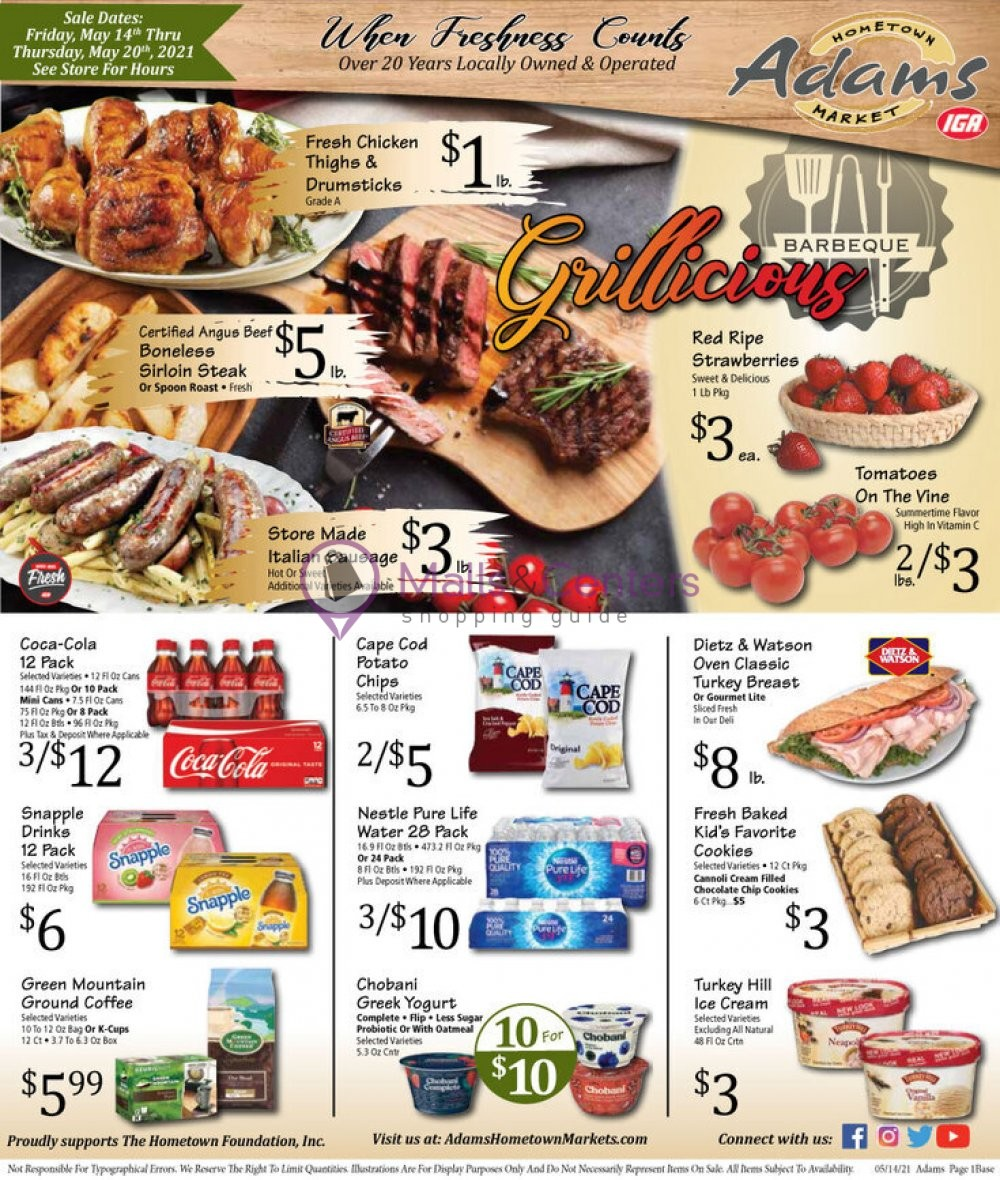 weekly ads Adams hometown market - page 1 - mallscenters.com