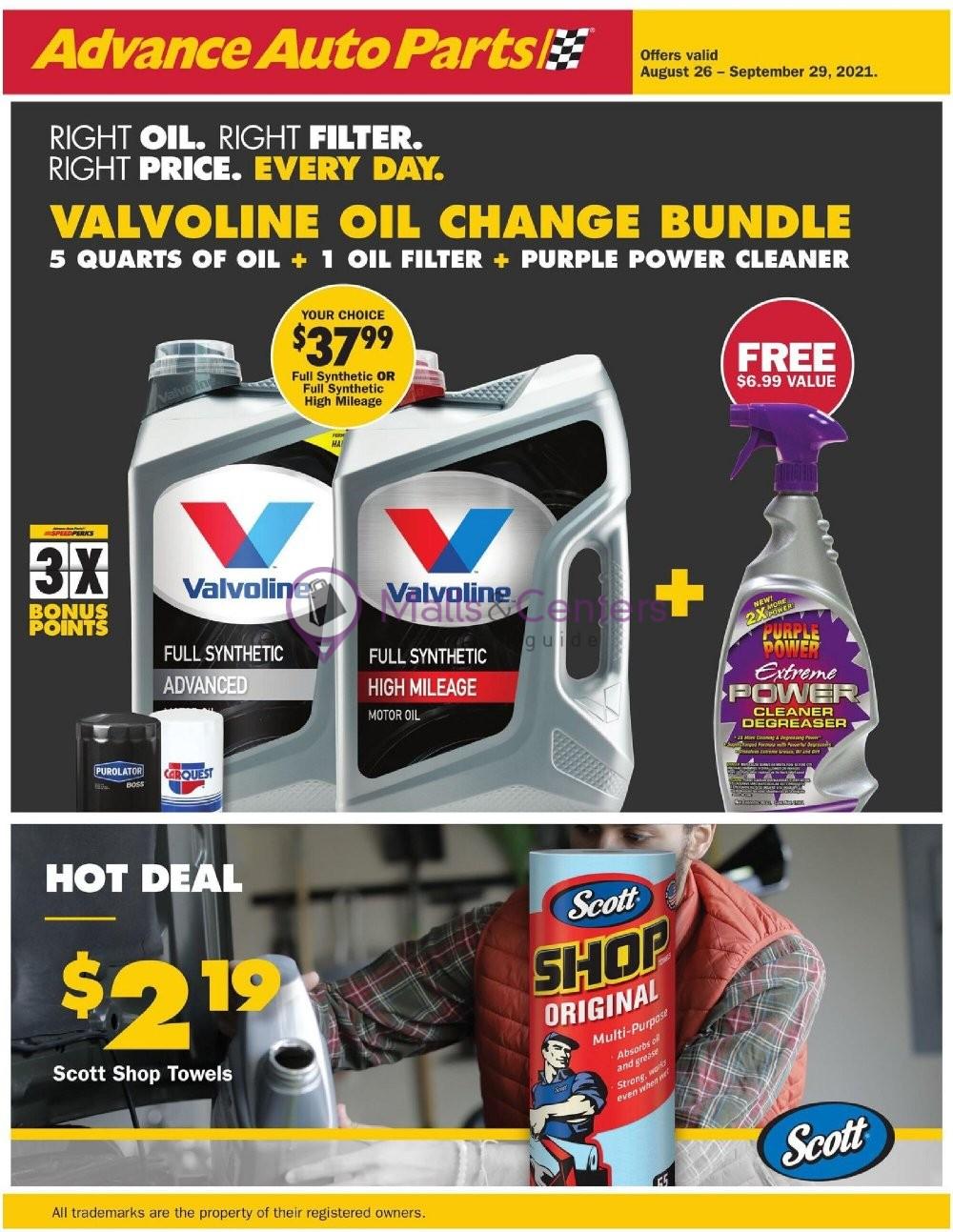 weekly ads Advance Auto Parts - page 1 - mallscenters.com
