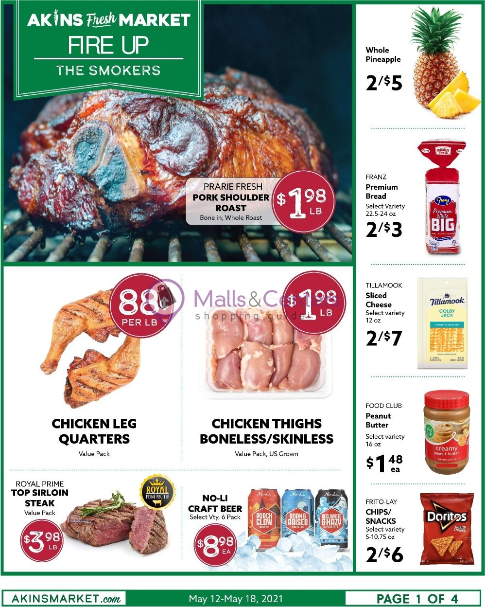 weekly ads Akins Foods - page 1 - mallscenters.com
