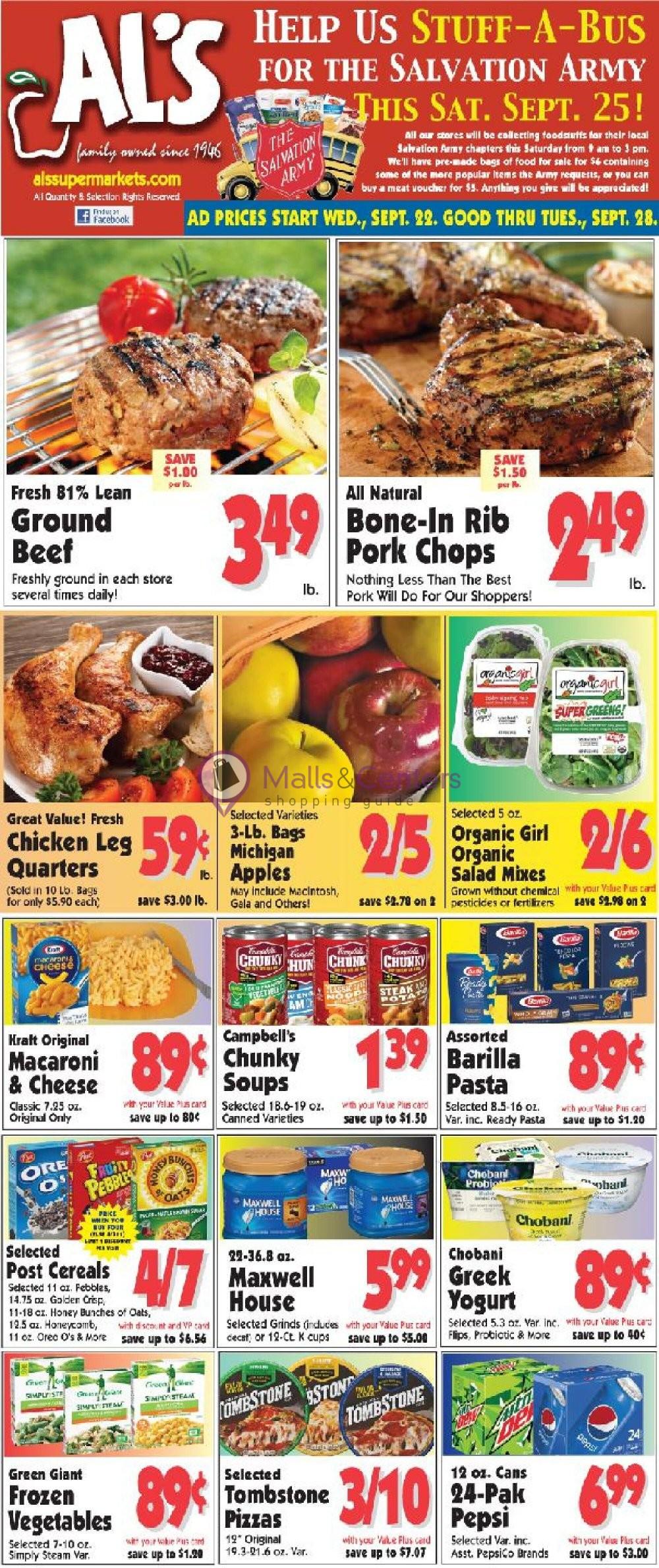 weekly ads Al's Supermarket - page 1 - mallscenters.com