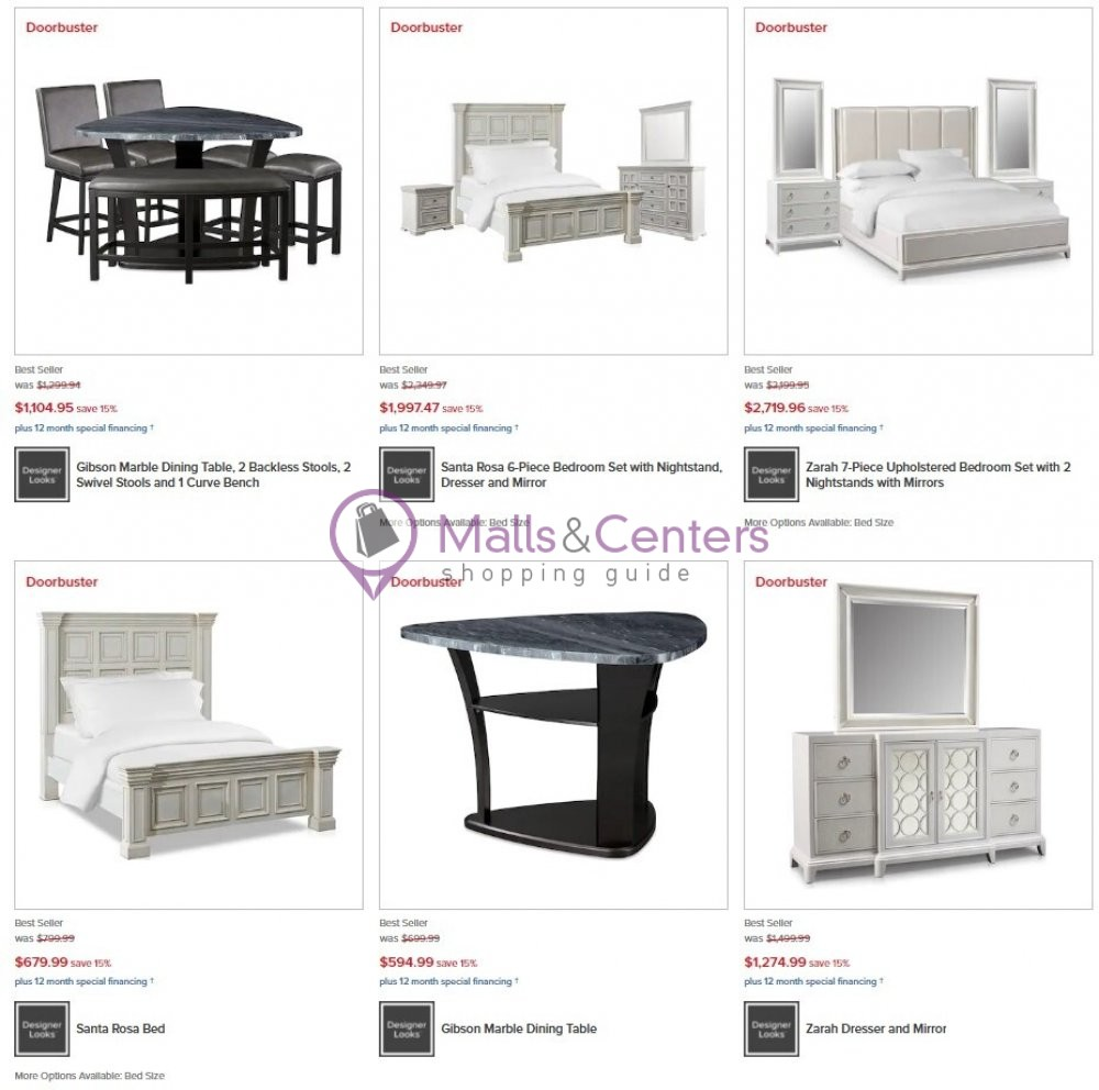 weekly ads American Signature Furniture - page 1 - mallscenters.com