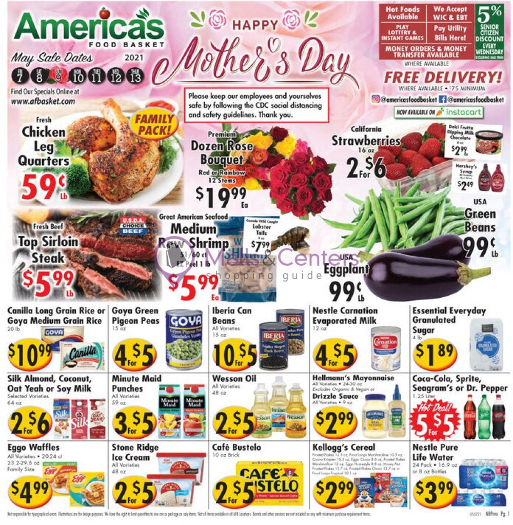 weekly ads America's Food Basket - page 1 - mallscenters.com