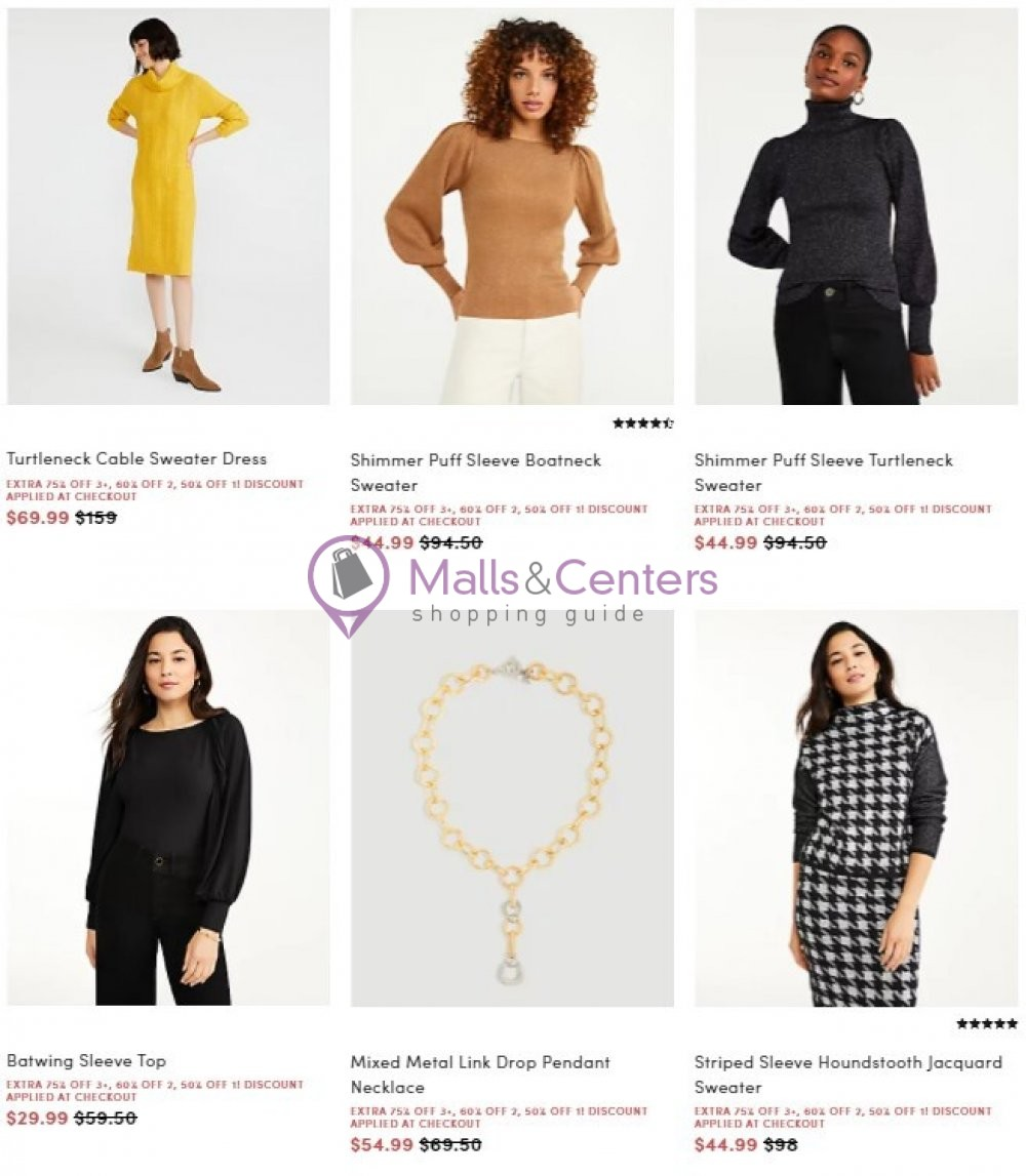 weekly ads Ann Taylor - page 1 - mallscenters.com