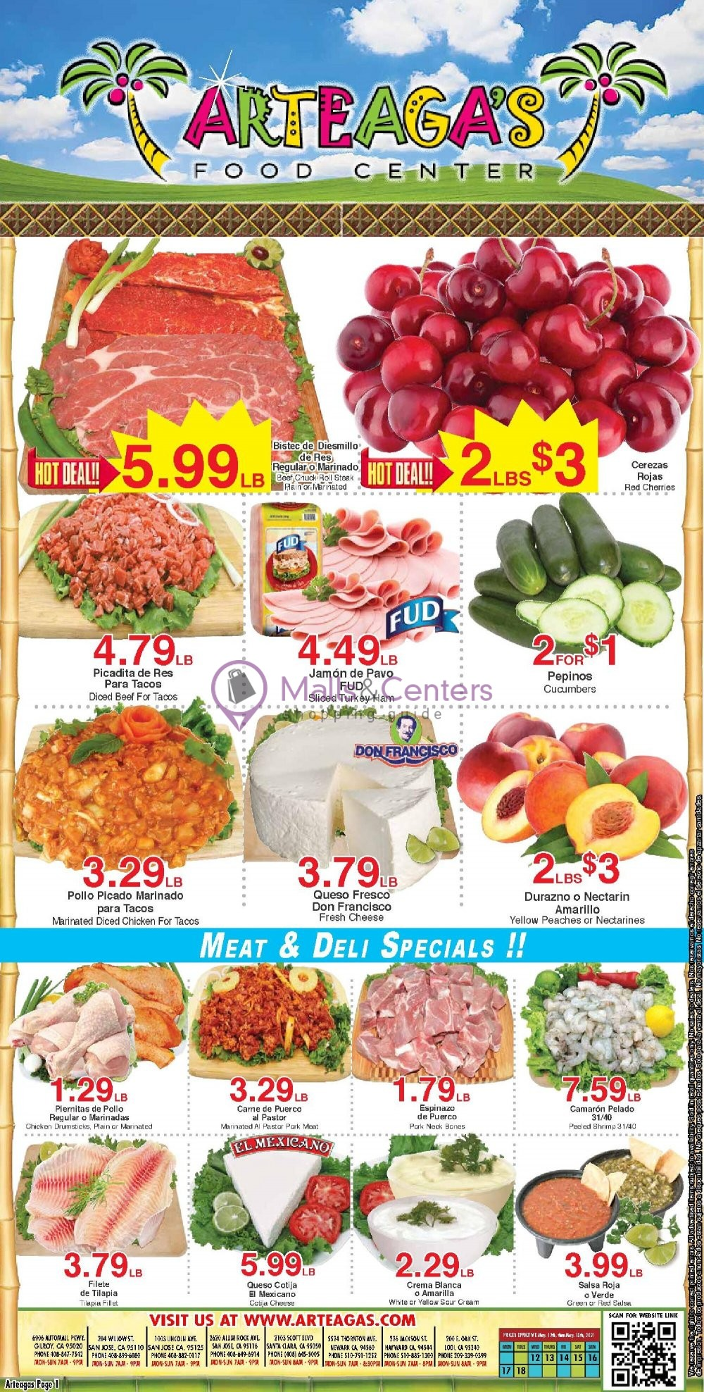 weekly ads Arteagas Food Center - page 1 - mallscenters.com