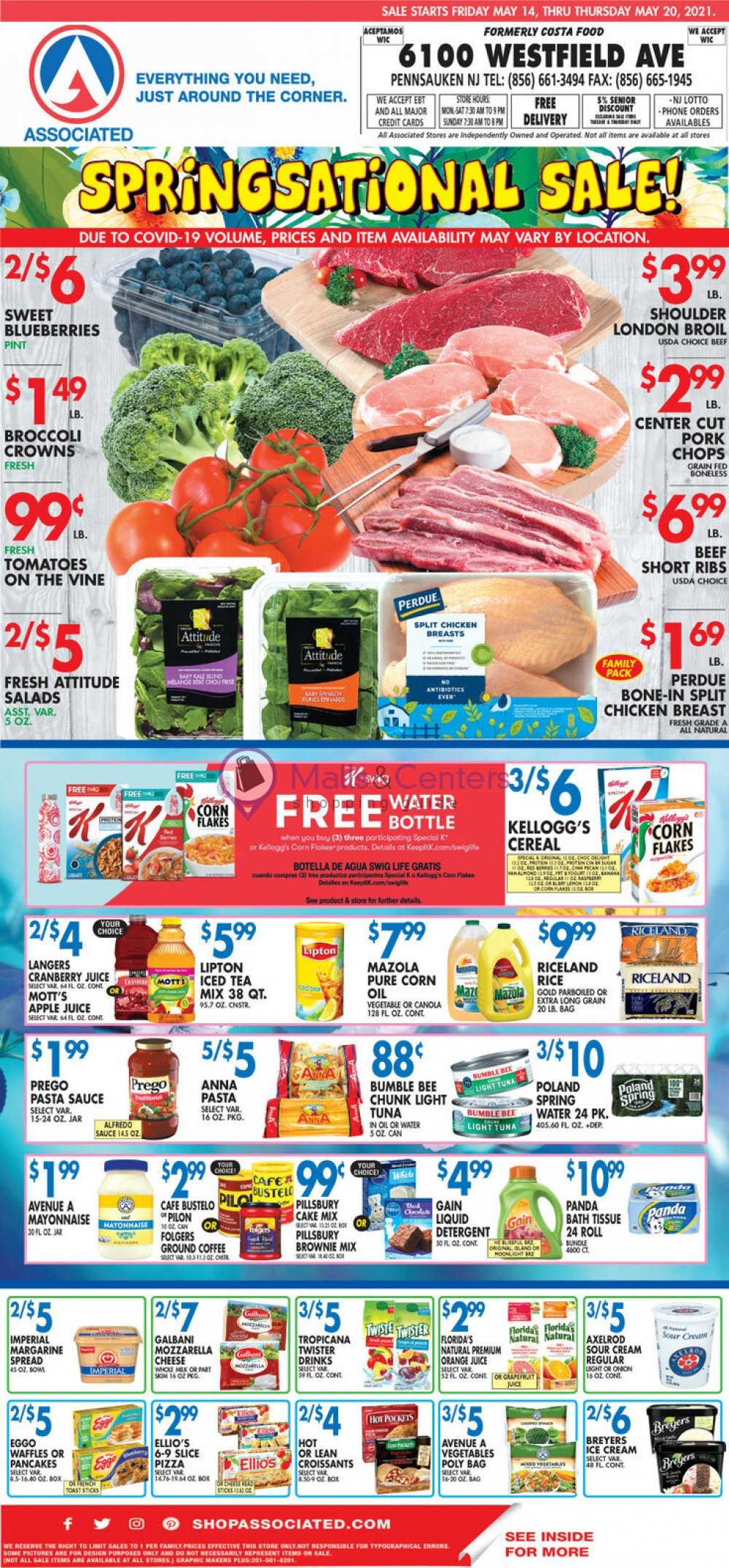 weekly ads Associated Supermarkets - page 1 - mallscenters.com