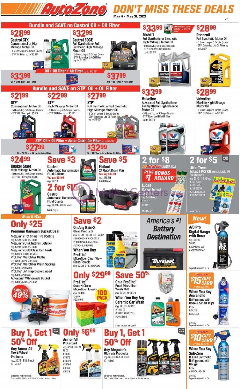 weekly ads AutoZone - page 1 - mallscenters.com