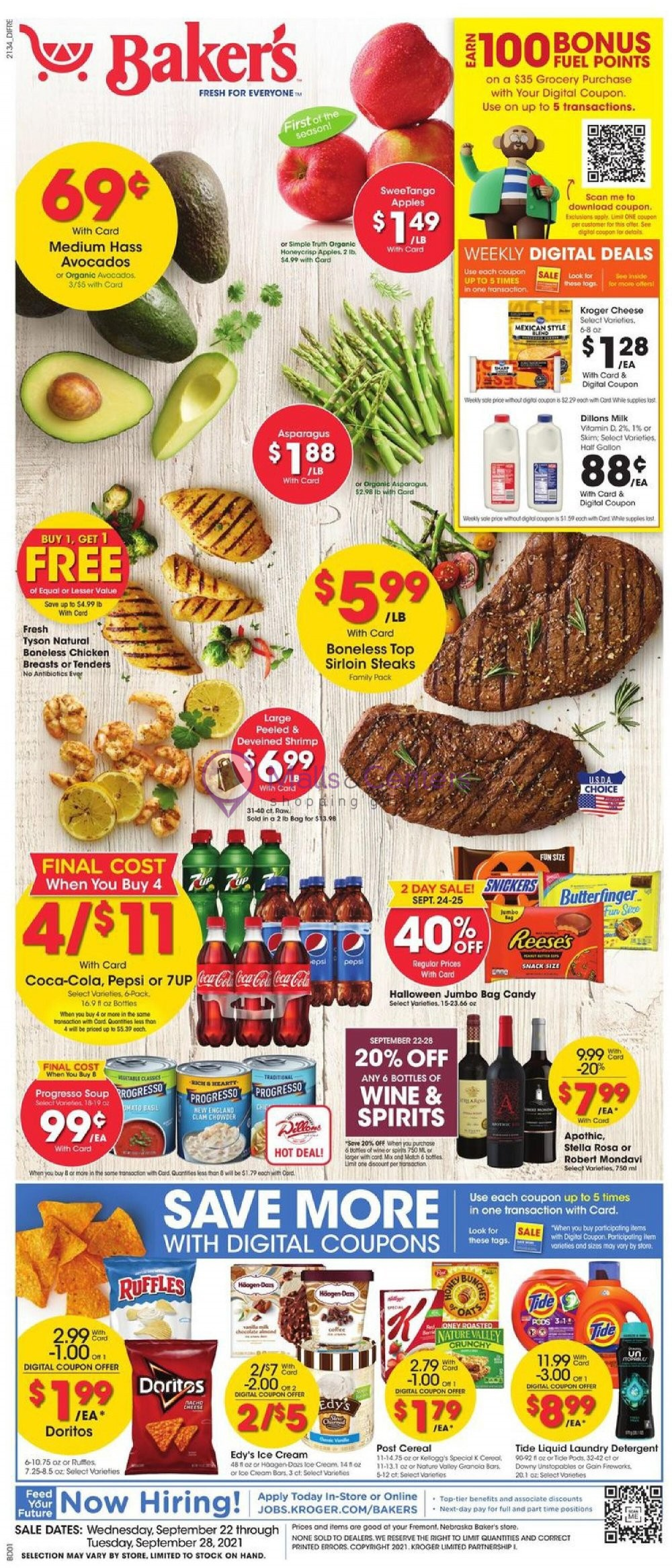 weekly ads Baker's - page 1 - mallscenters.com