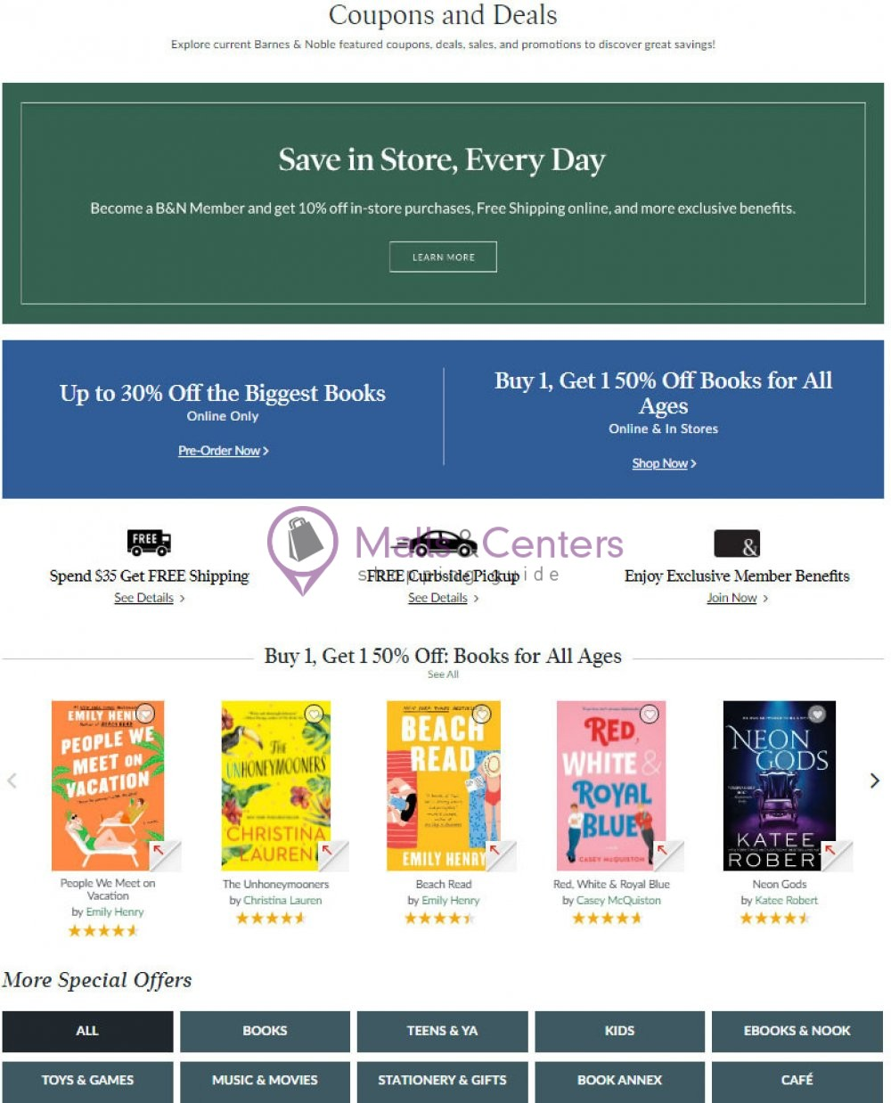 weekly ads Barnes & Noble - page 1 - mallscenters.com