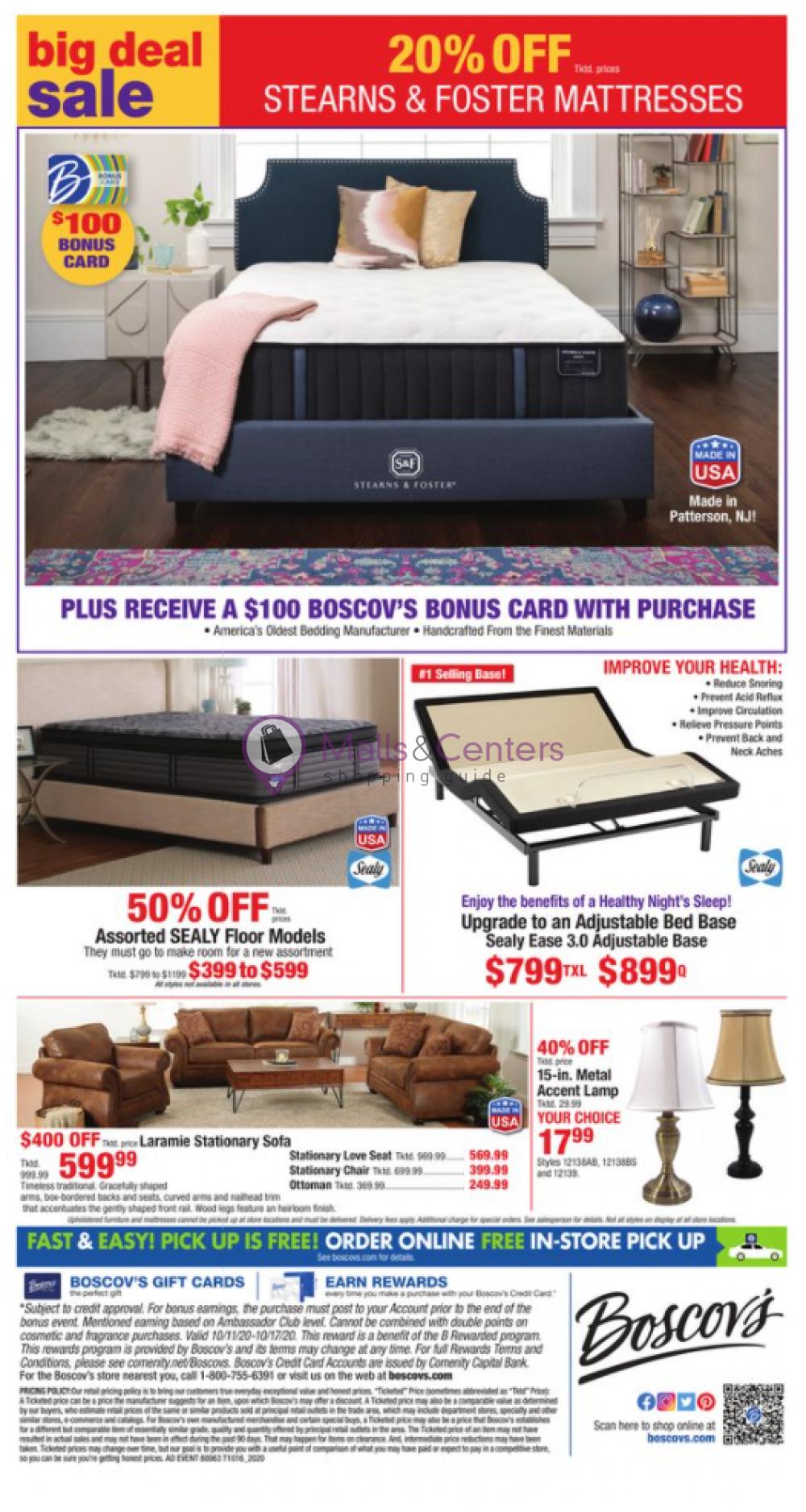 weekly ads Boscov's - page 1 - mallscenters.com