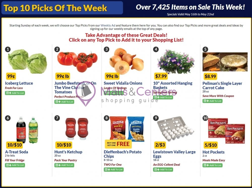 weekly ads Boyer's Food Markets - page 1 - mallscenters.com