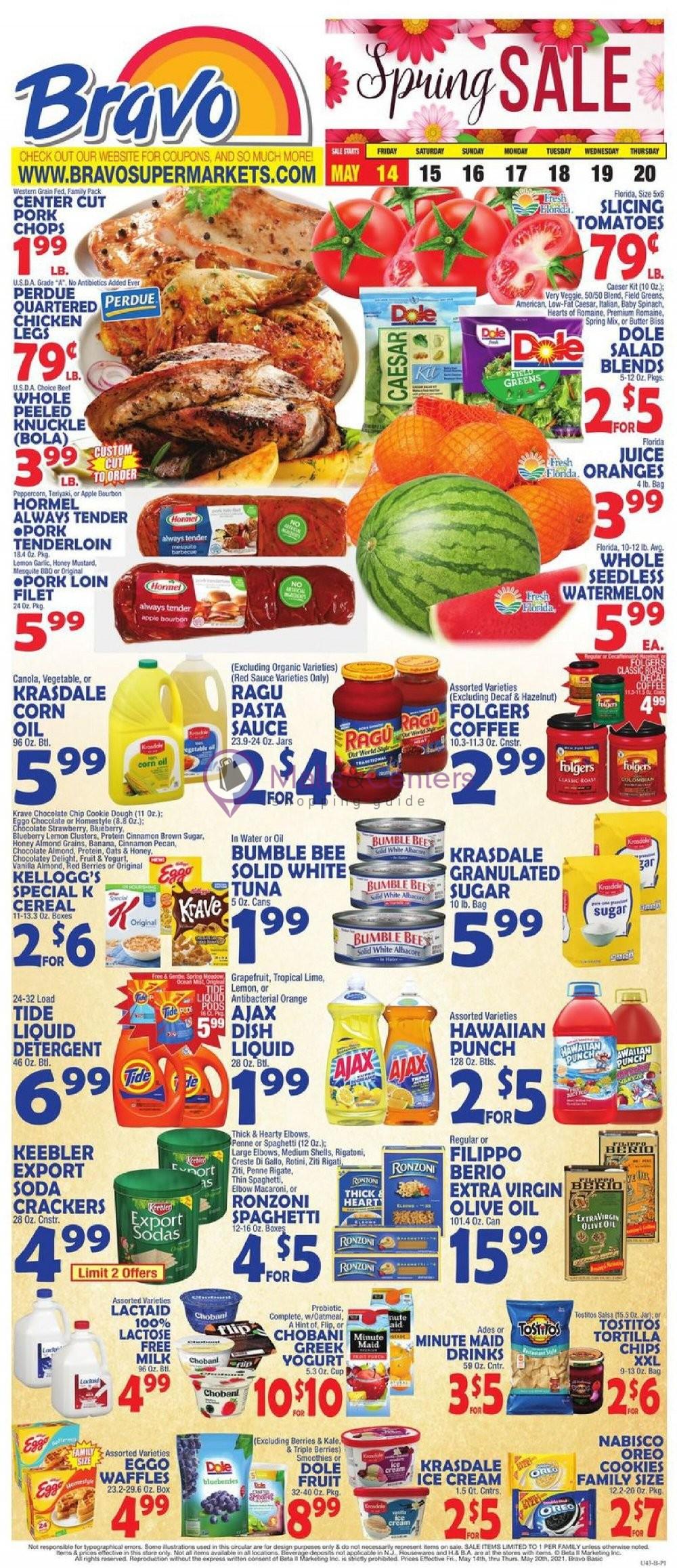 weekly ads Bravo Supermarkets - page 1 - mallscenters.com
