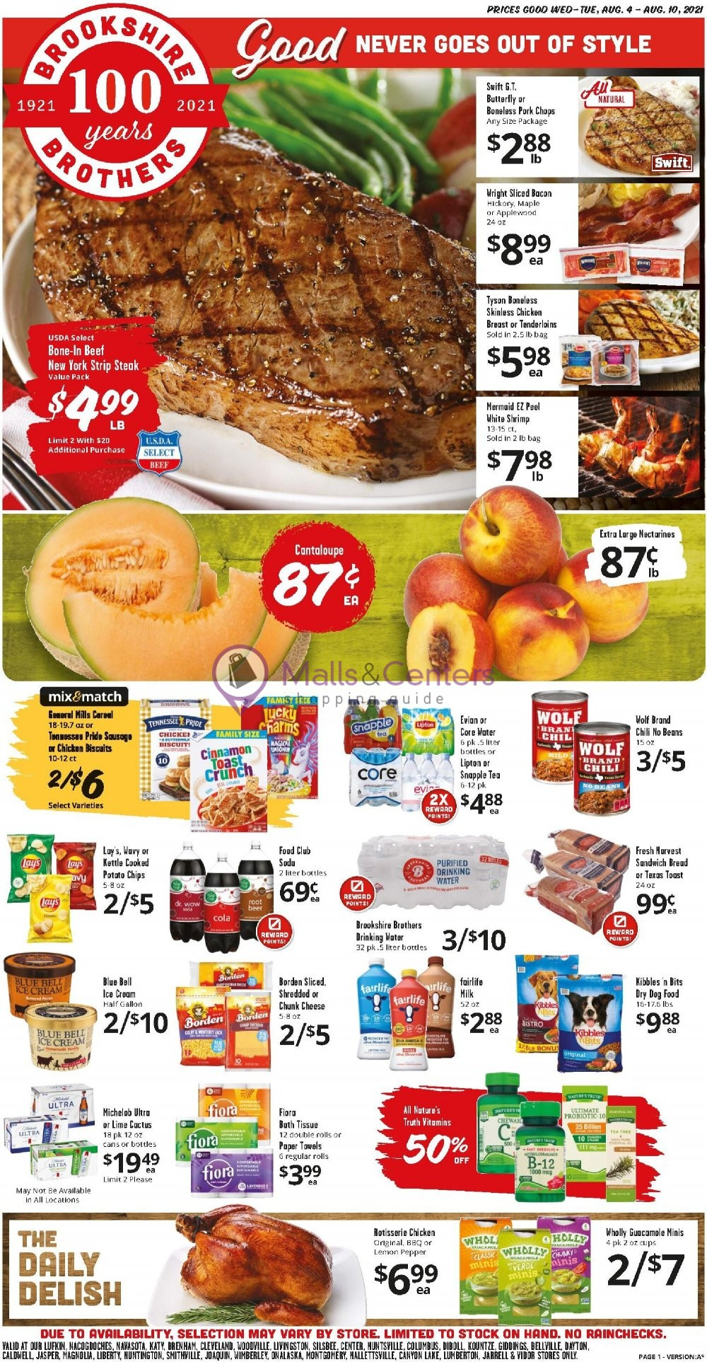 weekly ads Brookshire Brothers - page 1 - mallscenters.com