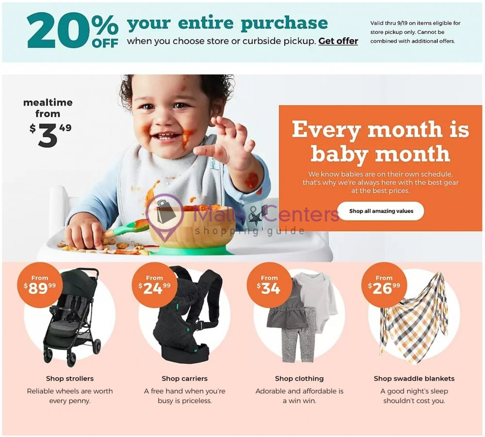 weekly ads Buy Buy Baby - page 1 - mallscenters.com