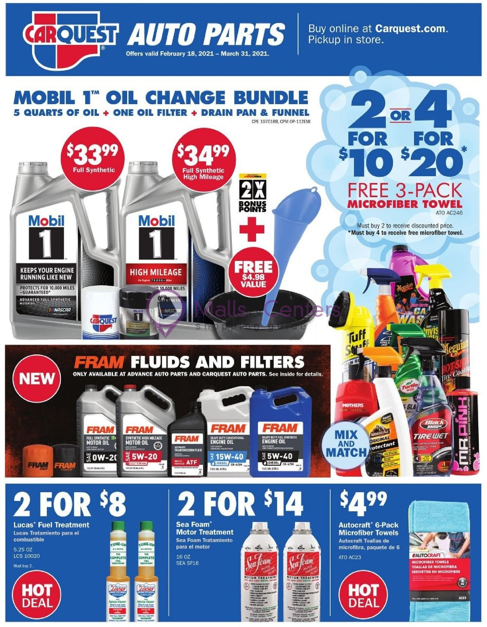 weekly ads Car Quest - page 1 - mallscenters.com