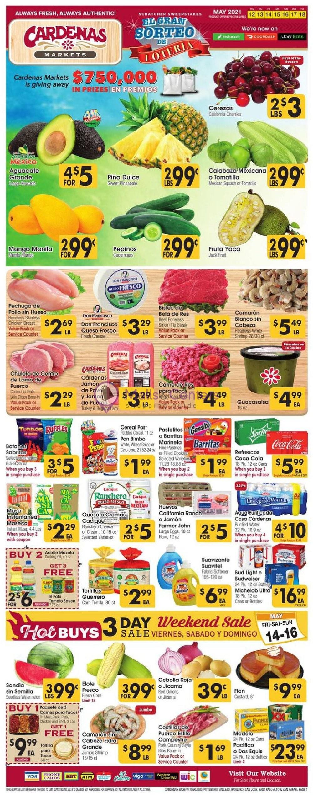 weekly ads Cardenas Market - page 1 - mallscenters.com