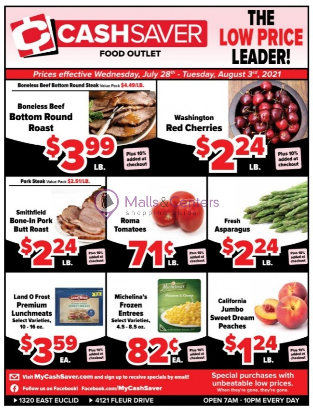 weekly ads Cash Saver Food Outlet - page 1 - mallscenters.com