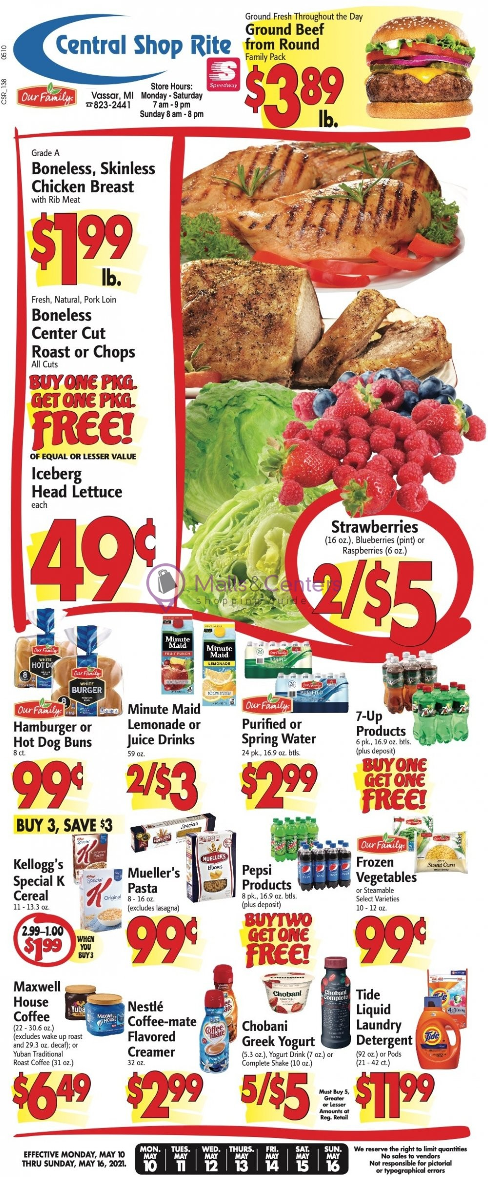 weekly ads Central Shop Rite - page 1 - mallscenters.com