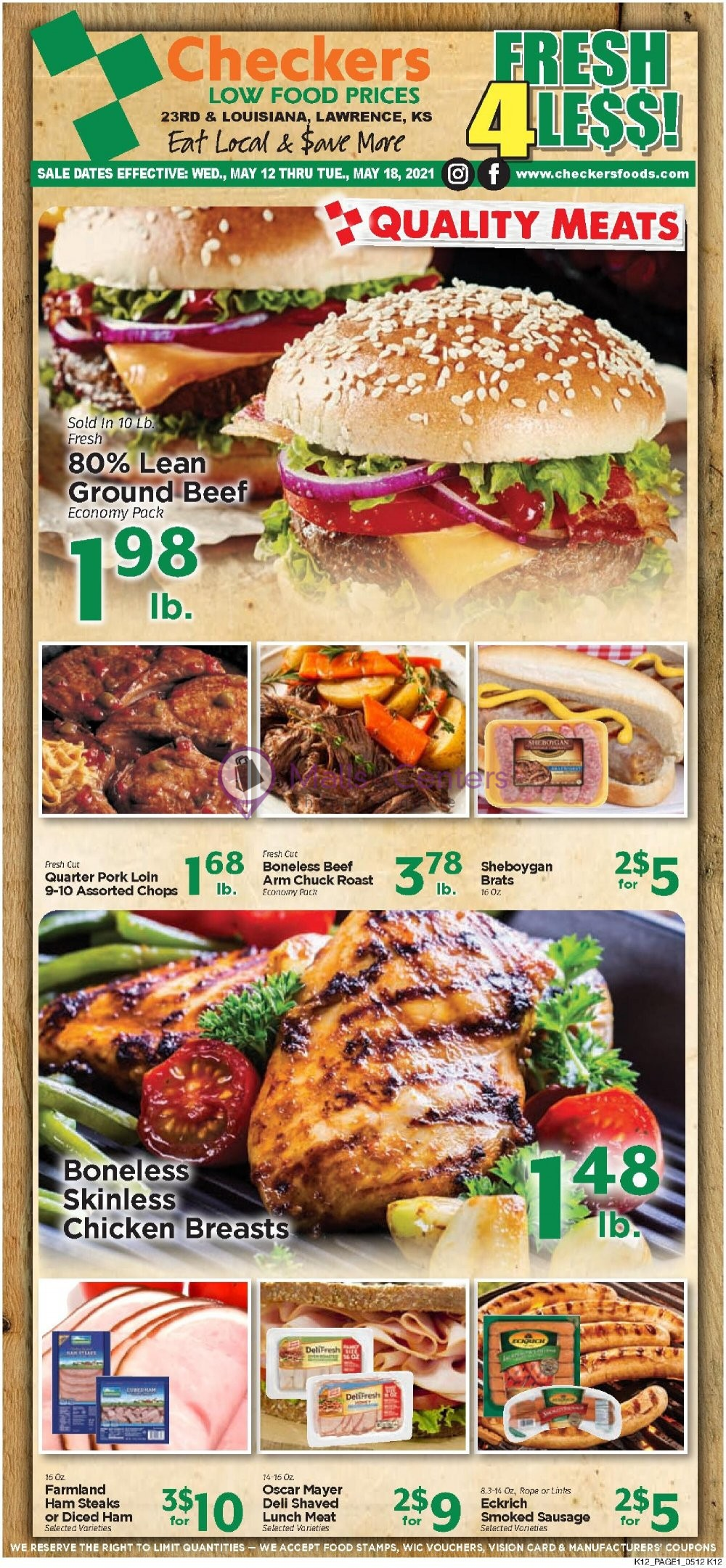 weekly ads Checkers Foods - page 1 - mallscenters.com