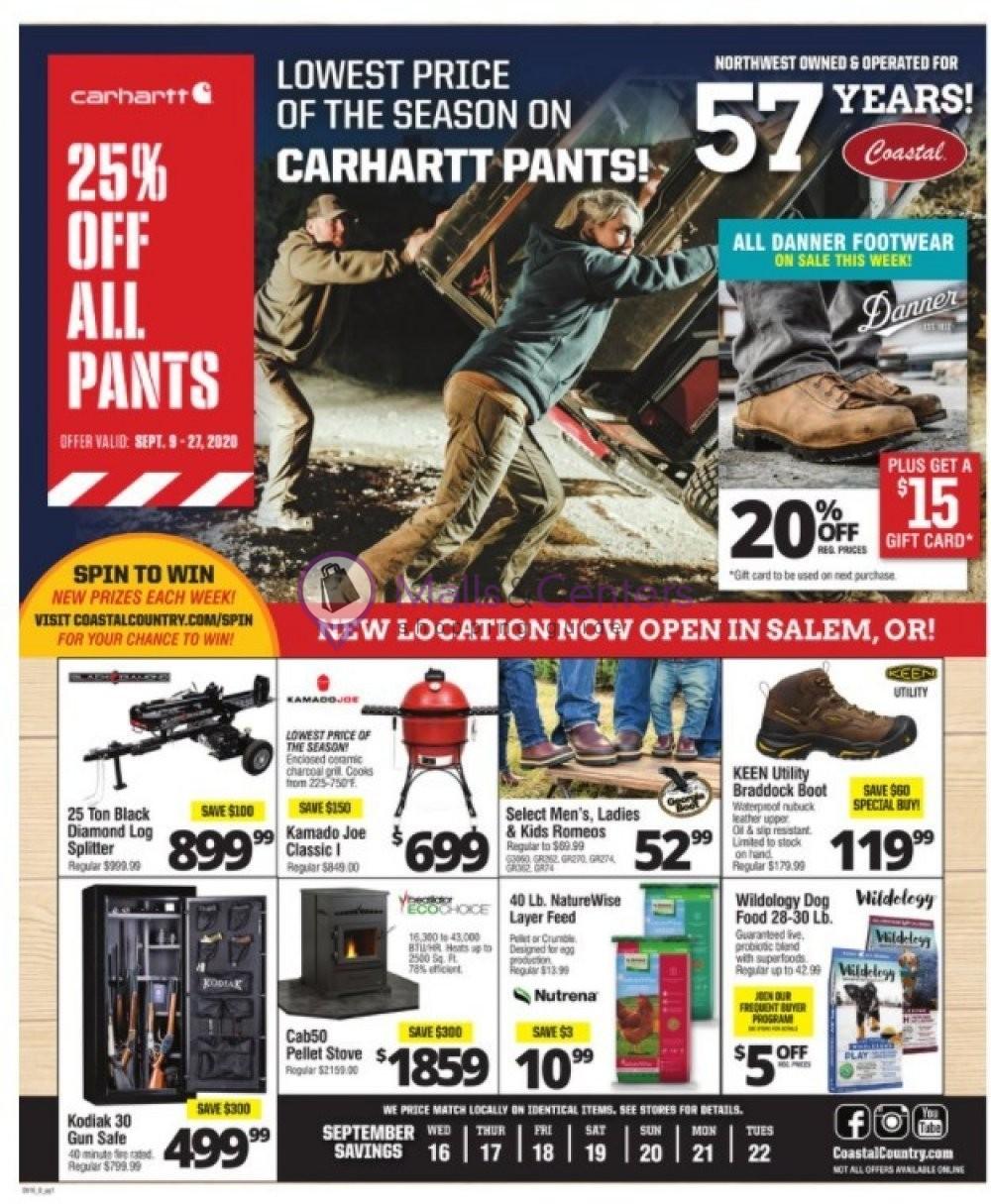 weekly ads Coastal Farm - page 1 - mallscenters.com