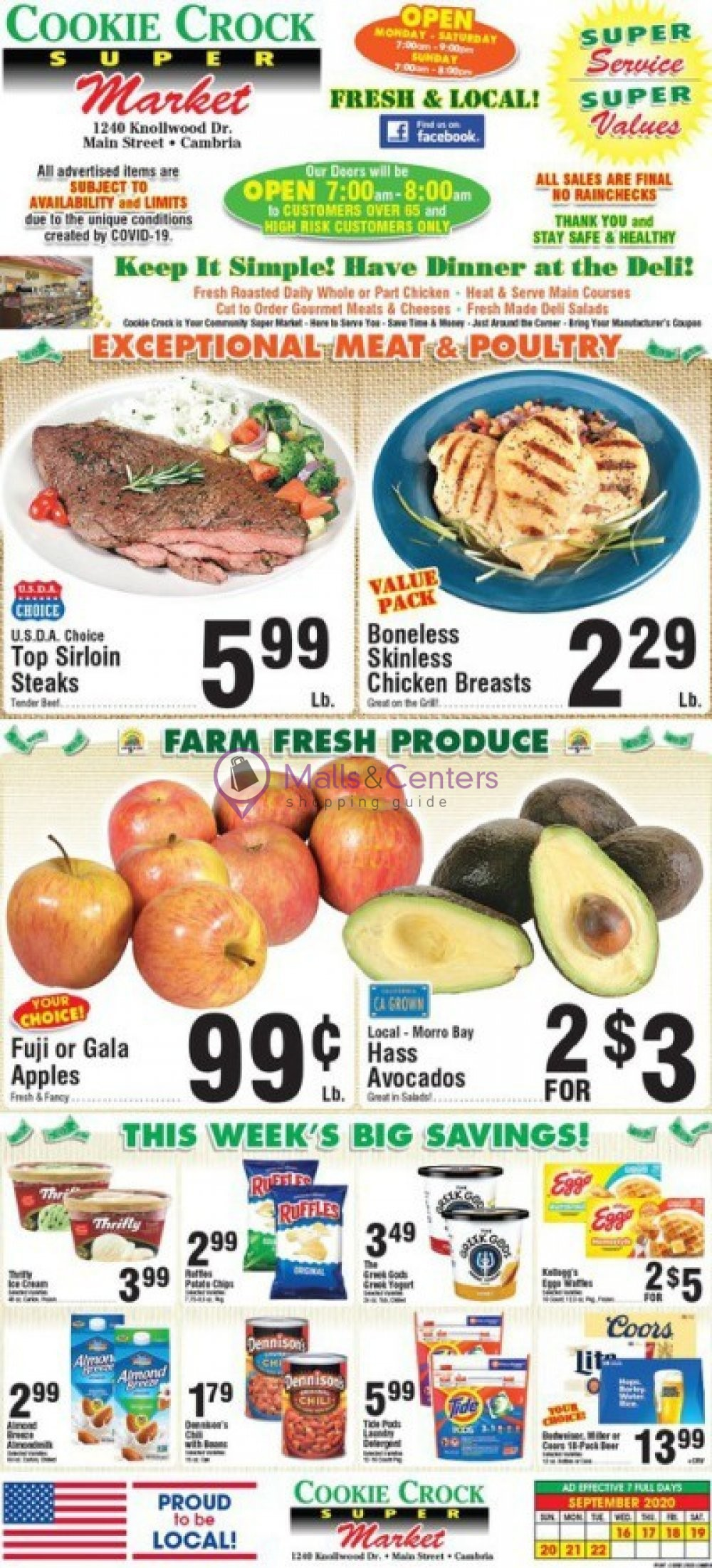 weekly ads Cookie Crock Markets - page 1 - mallscenters.com