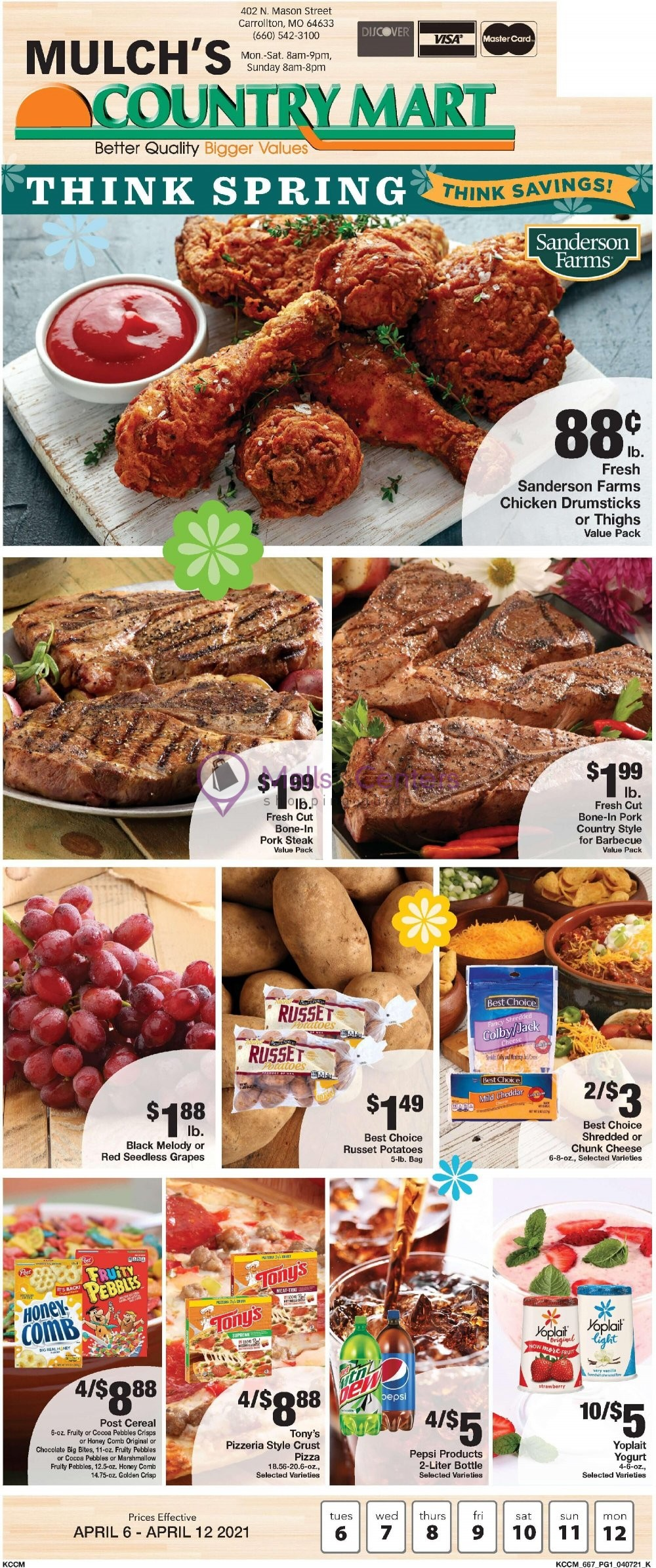 weekly ad Country Mart - page 1 - mallscenters.com