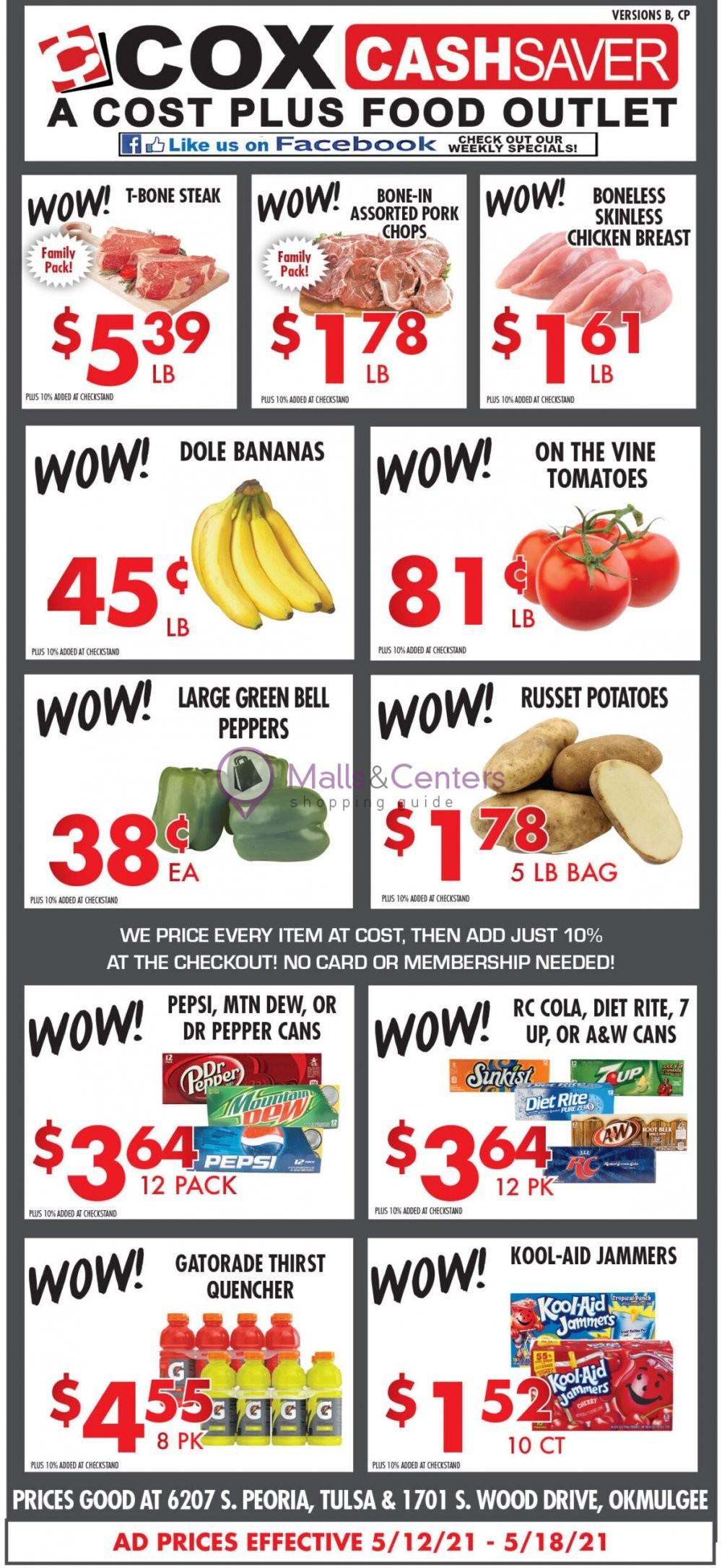 weekly ads Cox Cash Saver - page 1 - mallscenters.com