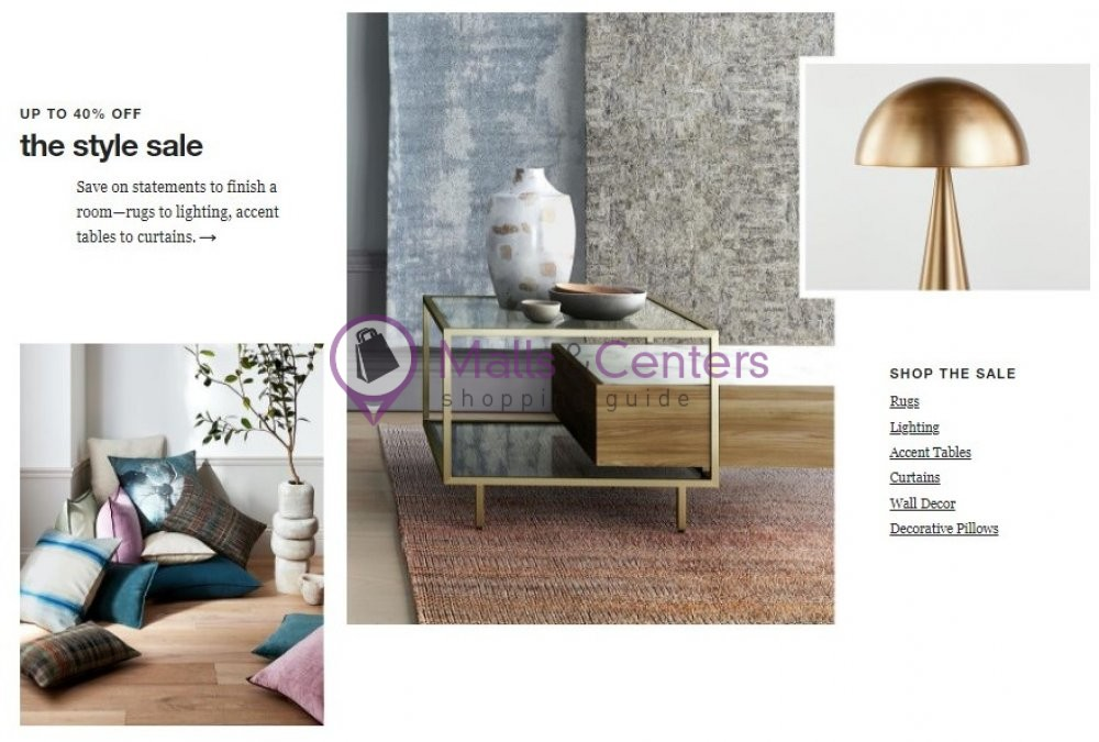weekly ads Crate & Barrel - page 1 - mallscenters.com